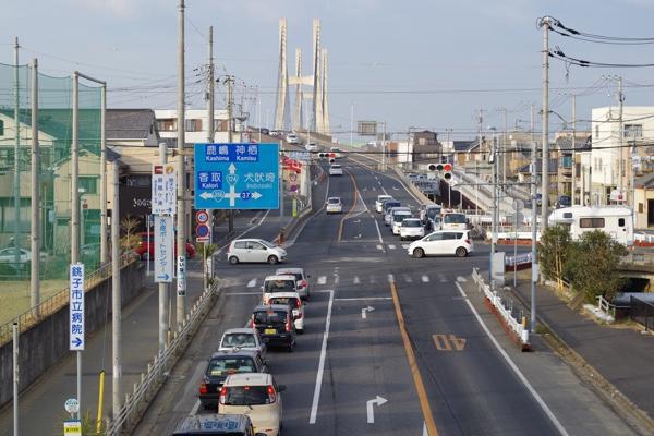 銚子大橋前交差点