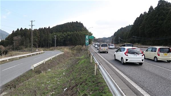 名阪国道と併走