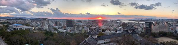 和歌山城から